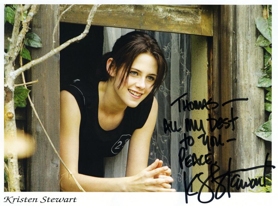 kristen stewart brother cameron stewart. Kristen Stewart Autograph